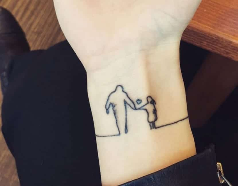 Tatuaje latido del corazón familia