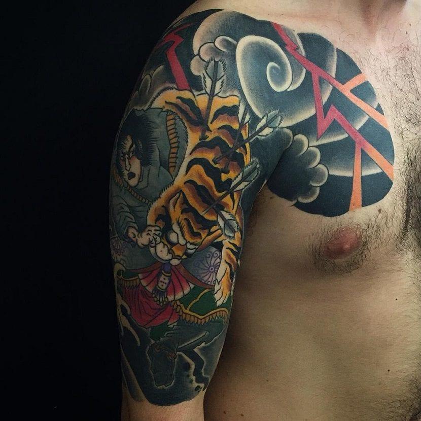 Tatuajes de tigres japoneses