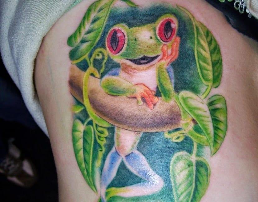 Tatuaje rana color
