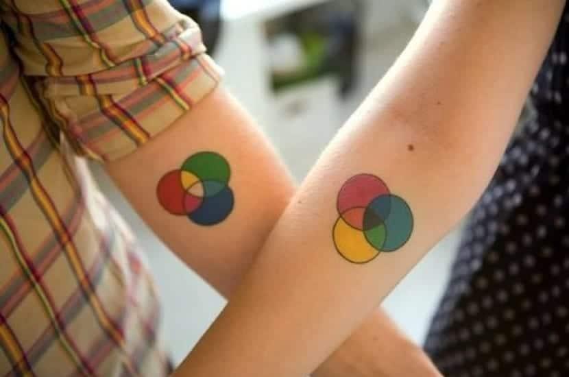 Tatuajes círculos para parejas