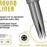 Tipos de agujas para tatuar - Round Liner