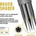 Tipos de agujas para tatuar - Round Shader