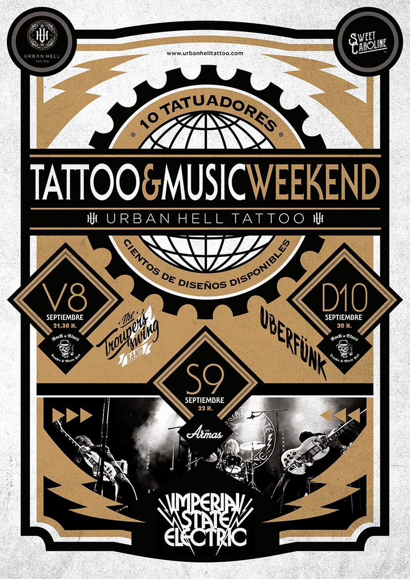 Tattoo & Music Weekend 2017 - Zaragoza cartel