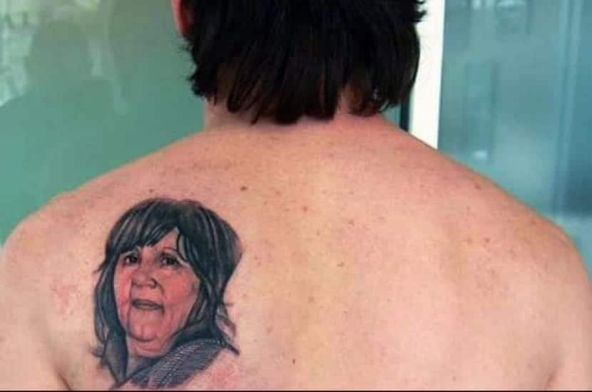 Tatuaje en la espalda Messi