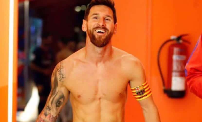 Nuevo tatuaje de Leo Messi - el argentino se ha tatuado unos labios