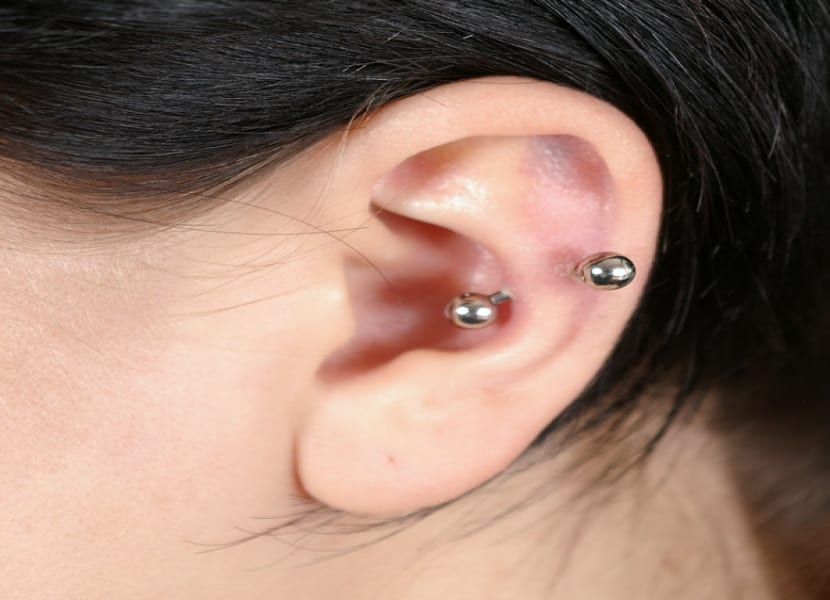 Piercings en las orejas