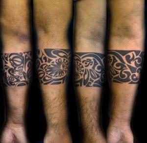Brazaletes maoríes hombre