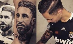 Tatuaje de Sergio Ramos