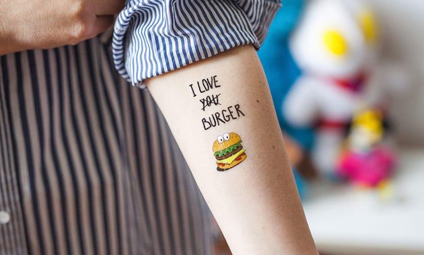Tatuajes de hamburguesas