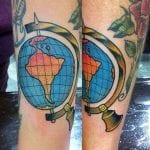 Tatuajes de globos terráqueos