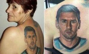 Tatuaje de Messi