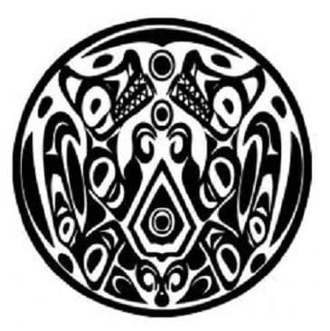 Tatuaje lobo de crepúsculo