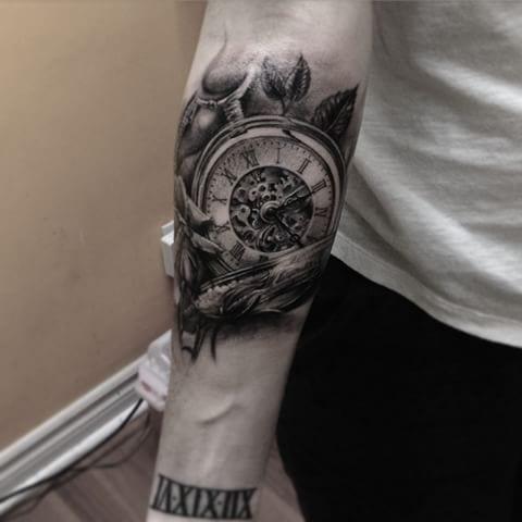 Tatuajes De Relojes Recopilación De Diseños Para Tomar Ideas