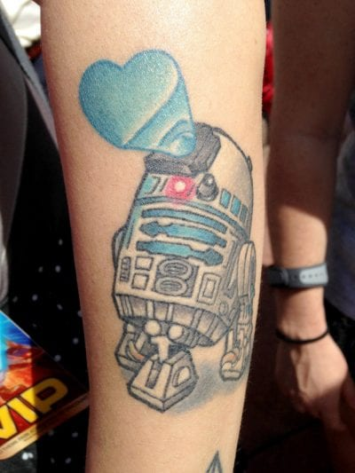 Tatuaje de R2 D2