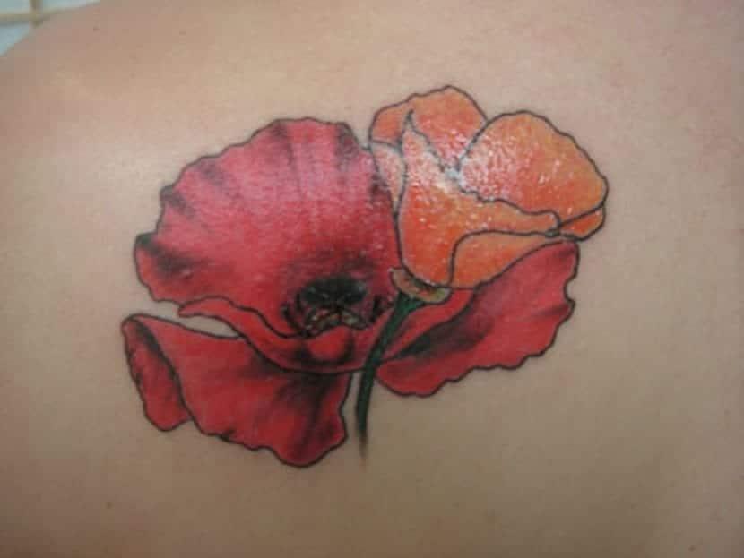 Tatuaje de amapola