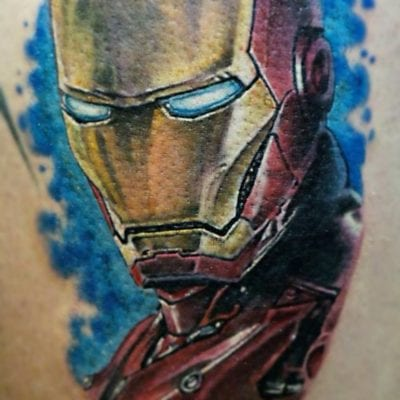 Tatuaje realista de Ironman