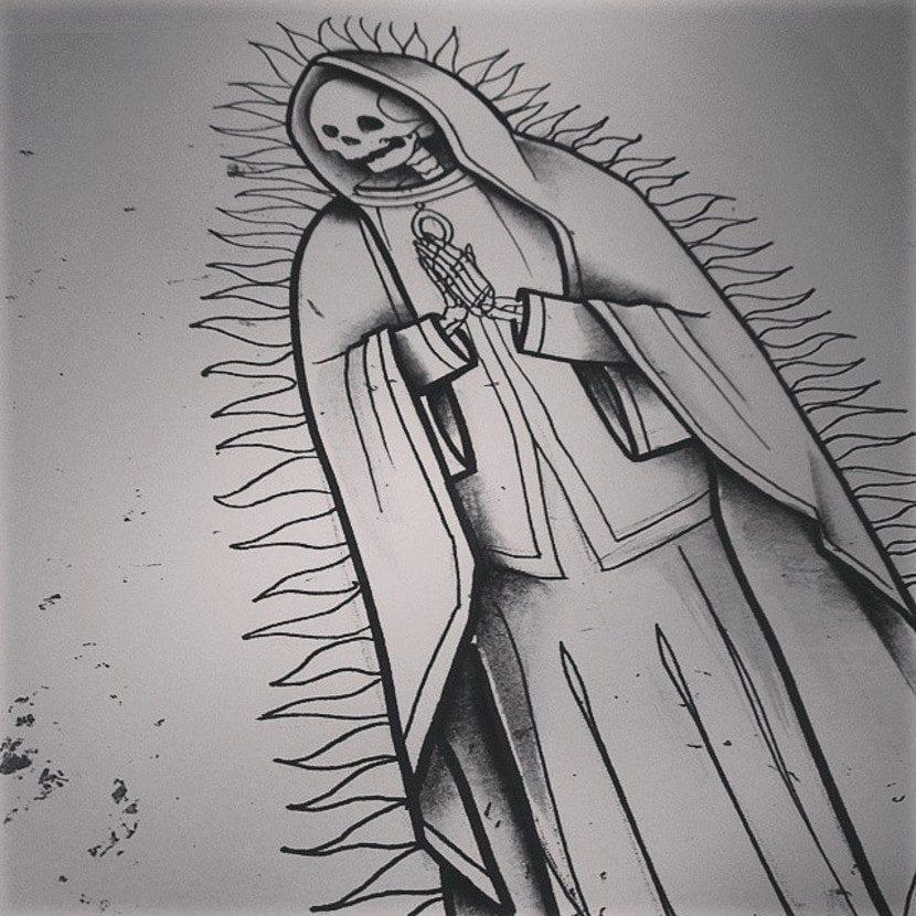 Diseño de Tatuaje de la Santa Muerte