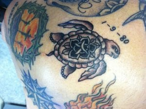 tatuaje shellback turtle