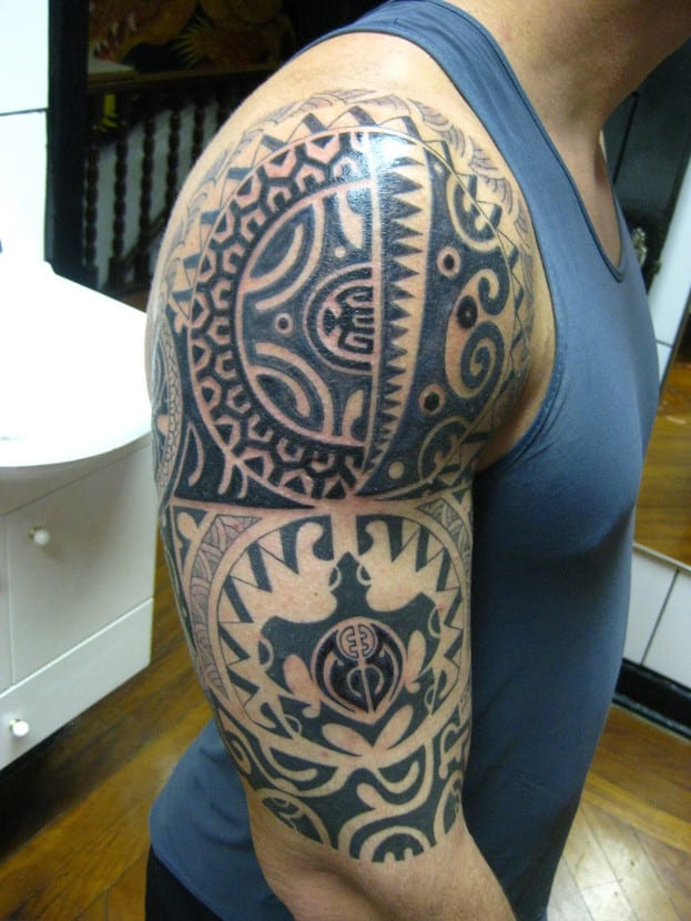 Tatuaje de tortuga polinesio