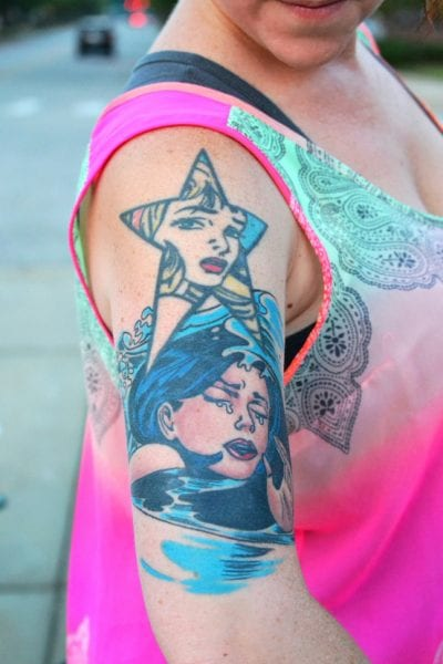 Tatuaje de pop art