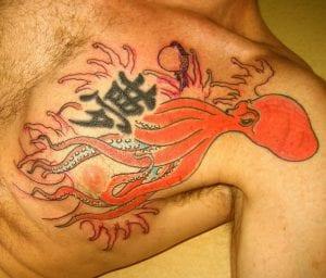 Tatuaje japonés de pulpo