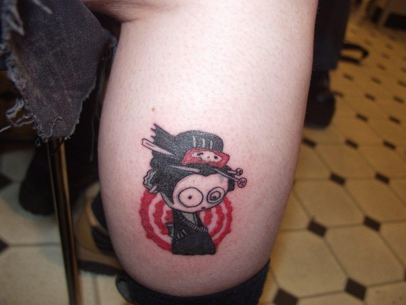 Tatuaje de geisha gótica