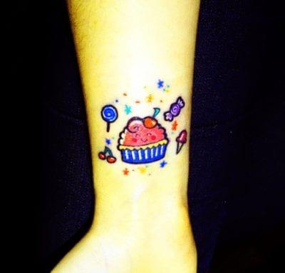 Tatuaje de cupcake