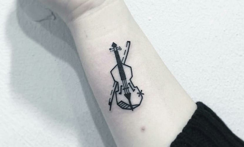 Tatuajes de violines
