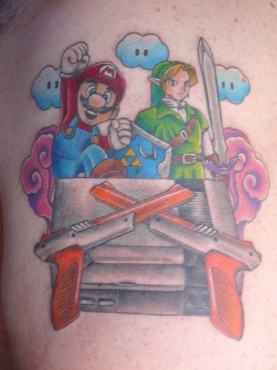 Tatuaje Mario y Link