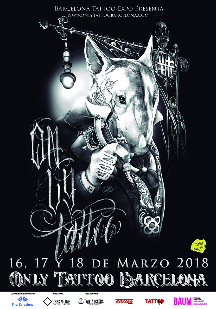 Only Tattoo Barcelona 2018 - cartel
