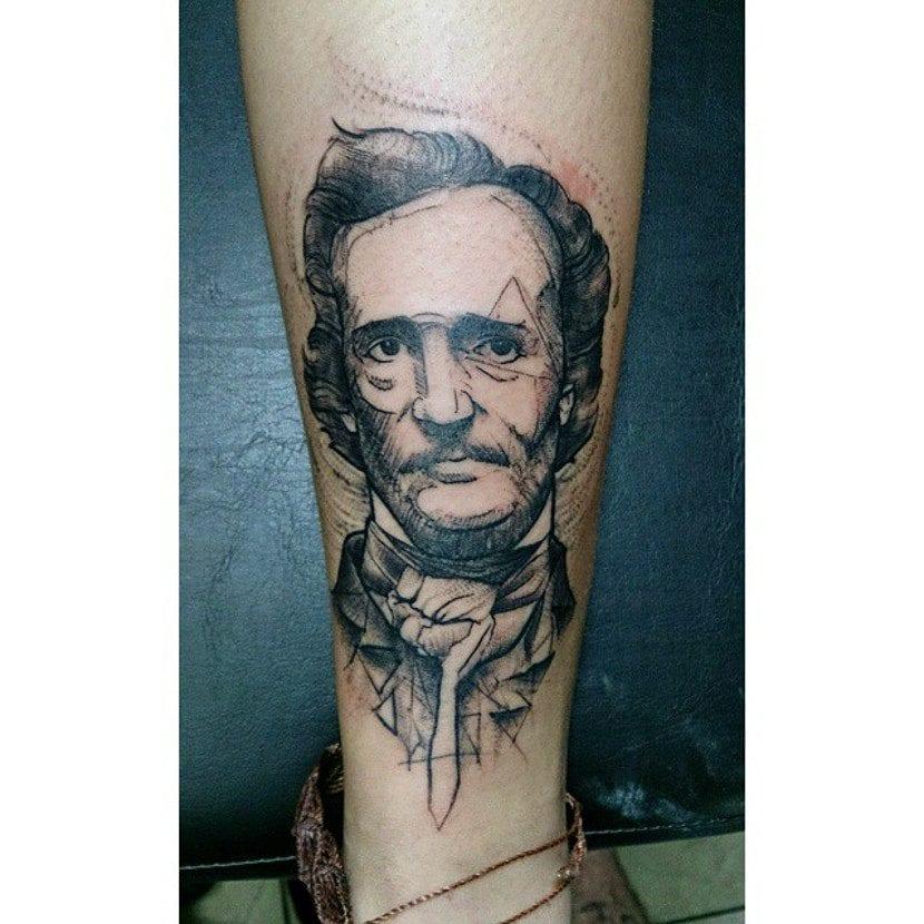 Tatuaje Edgar Allan Poe
