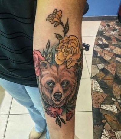 Tatuaje oso pardo