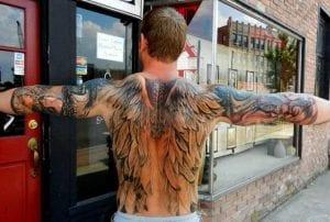 Tatuaje alas de ángel