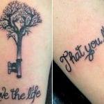 Tatuajes de árboles con llaves