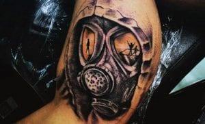 Tatuajes de máscaras de gas