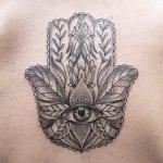 Tatuajes de mano de Hamsa