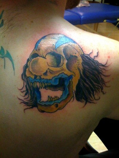 Tatuaje payaso calavera