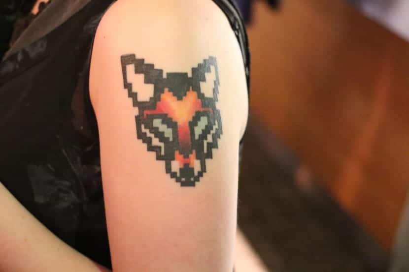 Tatuaje píxeles zorro