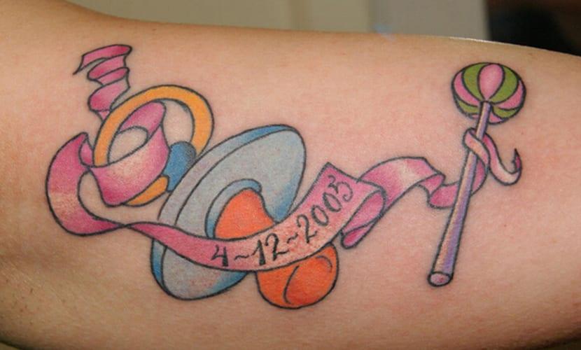 Tatuajes de chupetes