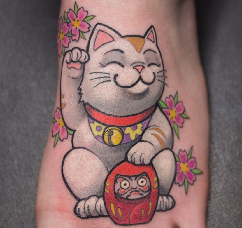 Tatuajes De Gatos De La Suerte Significado Y Recopilación