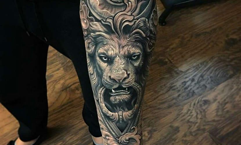 Tatuajes De Leones En El Brazo Recopilacion De Disenos