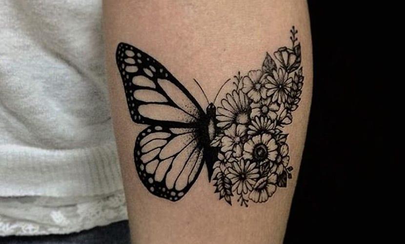 Tatuajes De Mariposas Recopilación De Diseños E Ideas
