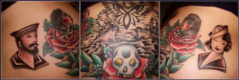 Tatuaje marinero marinera