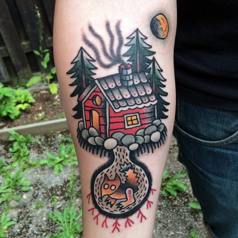Tatuaje cabaña