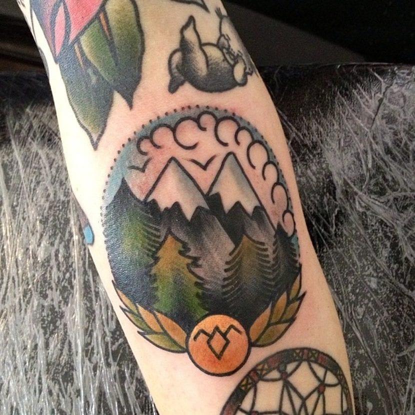 Tatuaje montañas