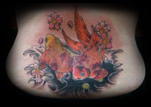 Tatuaje peces naranja