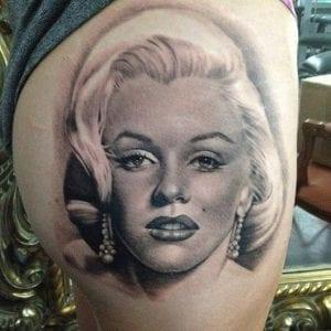 Tatuaje persona Marilyn Monroe
