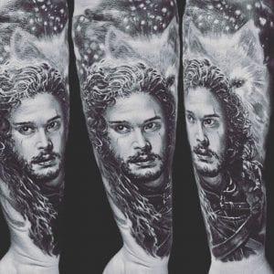 Tatuaje famosos Jon Nieve