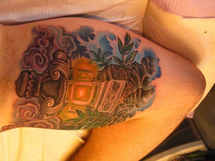 Tatuaje japonés linterna