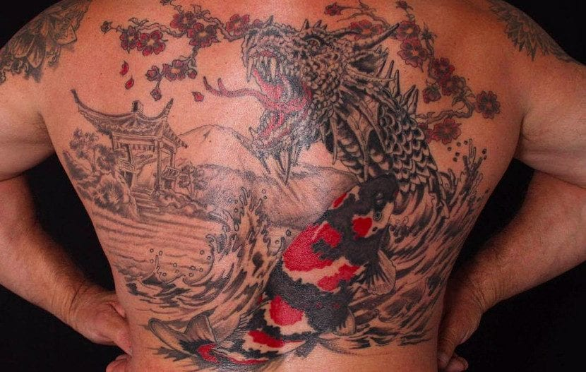 Tatuajes carpas dragón